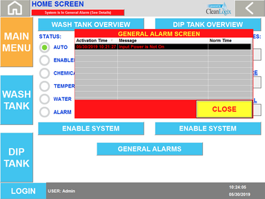 EPX - Trolley - System Alarm is Active,