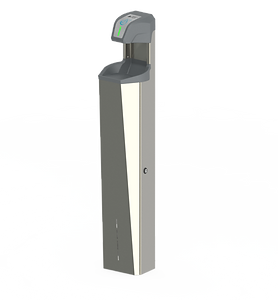 Free standing hand sanitizer dispenser high volume automated stainless steel durable lockable cabinet