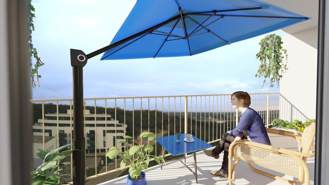 Rezidencia Kalvárka | Vizualizácia balkón