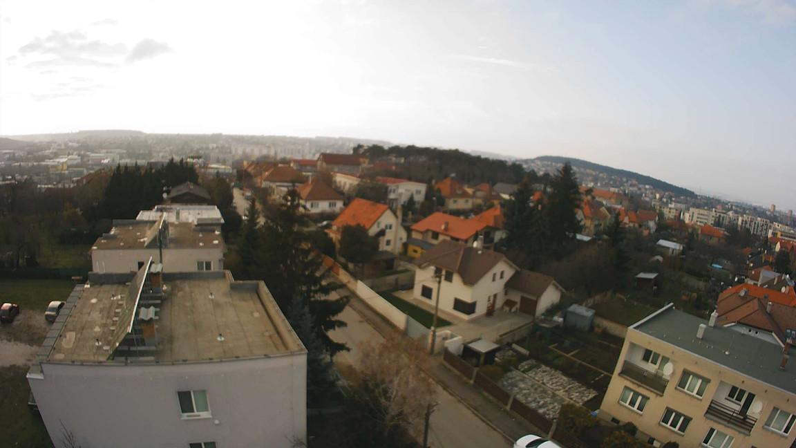 Rezidencia Kalvárka | Pohľad zo SZ okien smerom na Borovú