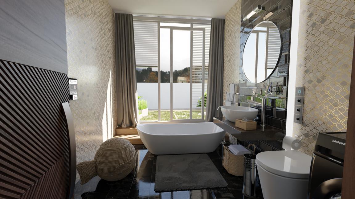 Rezidencia Kalvárka | Vizualizácia kúpeľňa