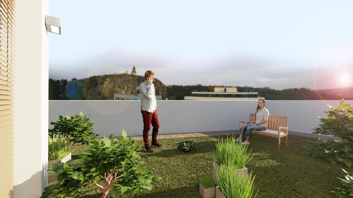 Rezidencia Kalvárka | Vizualizácia terasa
