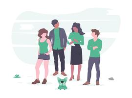 illustration équipe