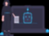 illustration service client de qualité