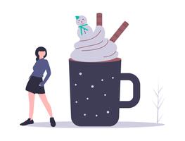illustration chocolat chaud