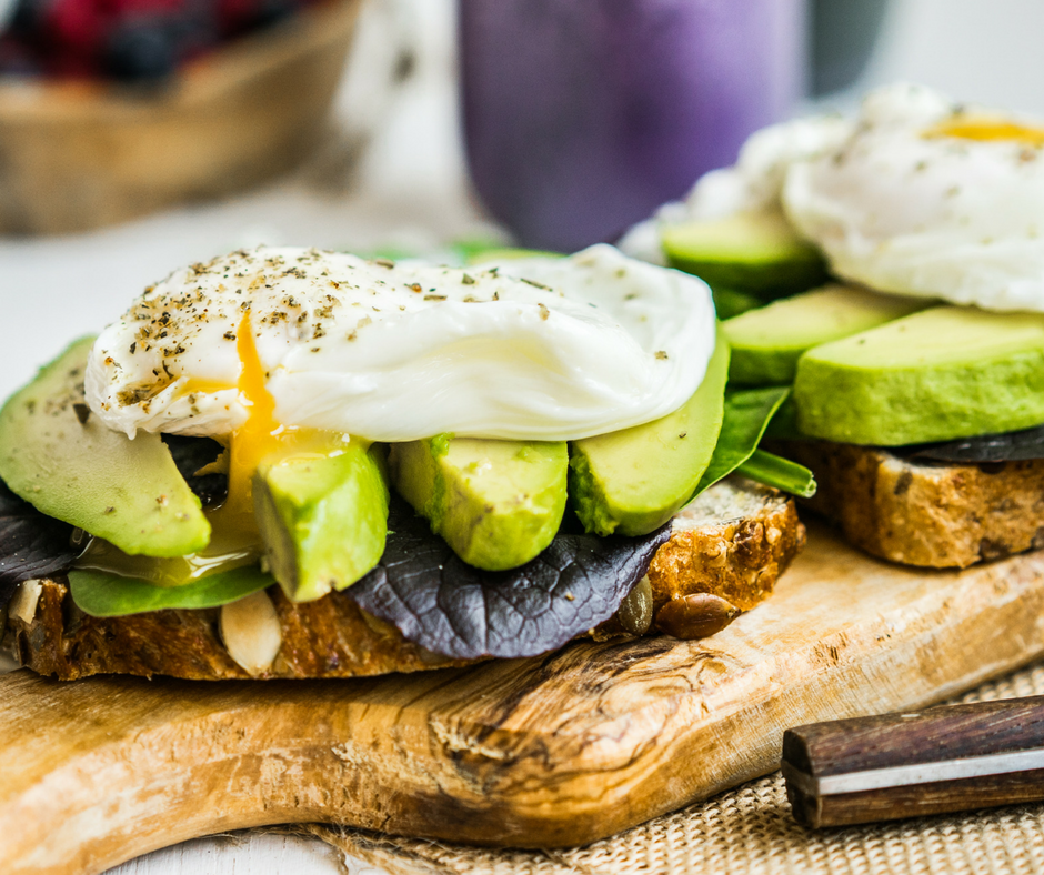 New Generation Eggs on health bread with Avocado