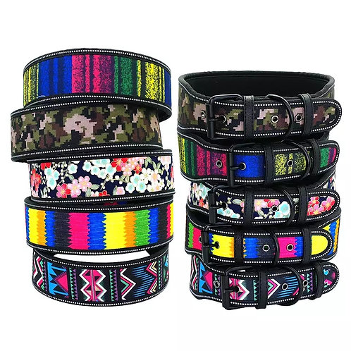 Canine Nylon printed pattern collar