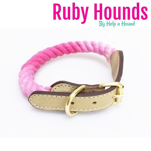 Ombré rope collar & leads