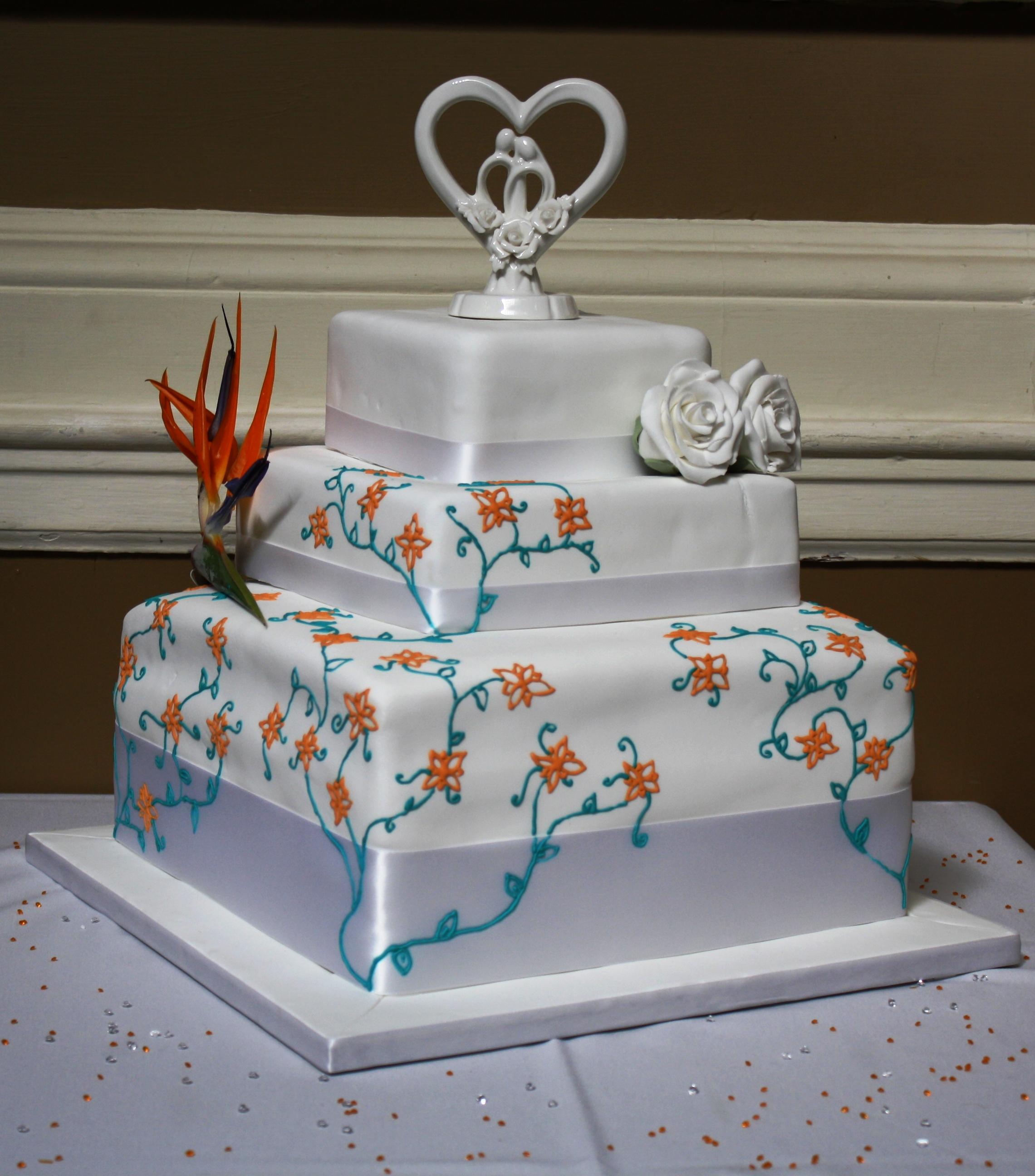 Bird Of Paradise Wedding Cake
