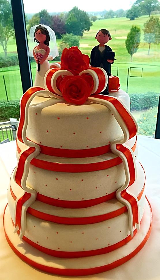Orange Ribbon Wedding Cake.JPG