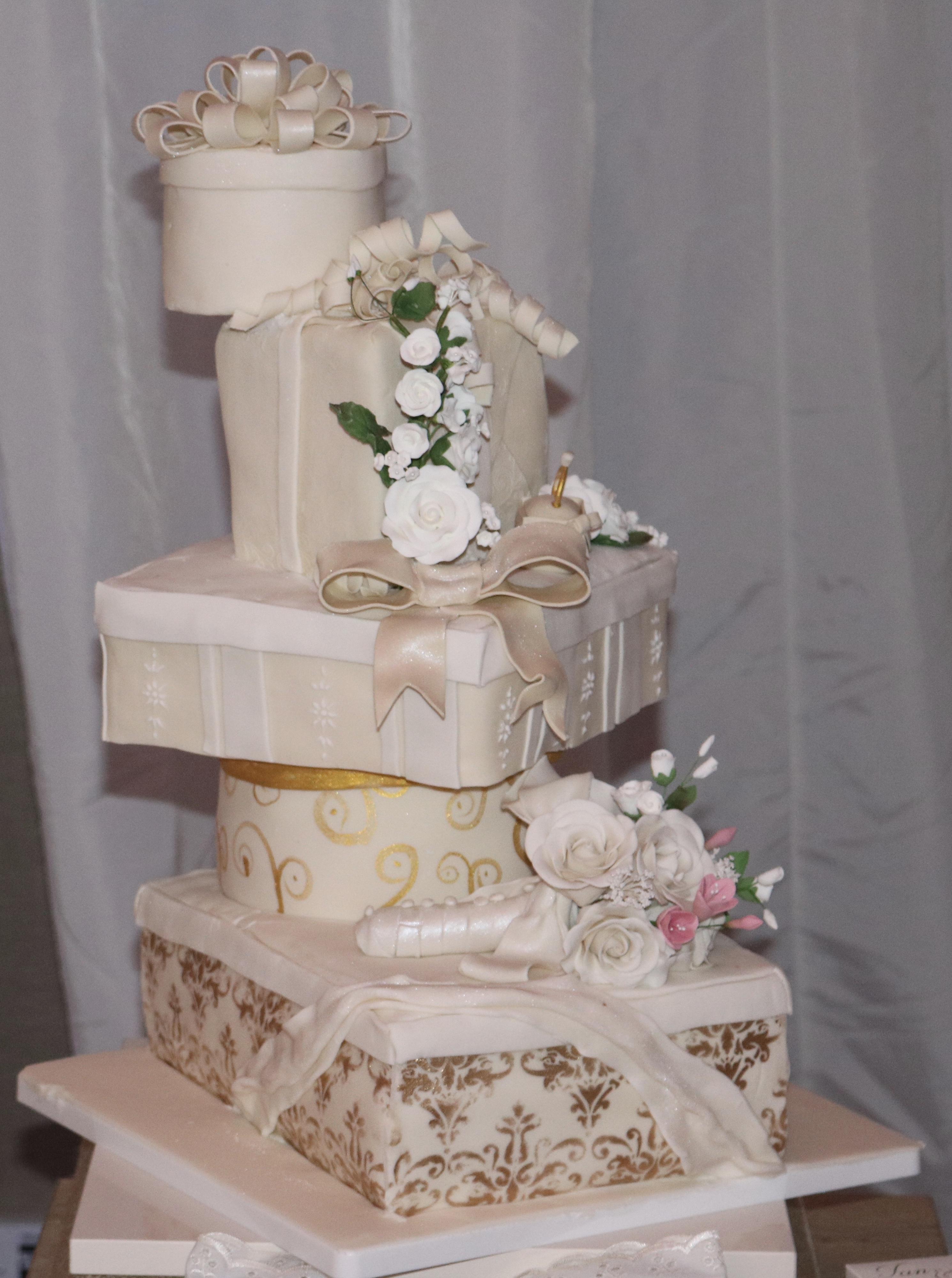 Boxes Wedding cake