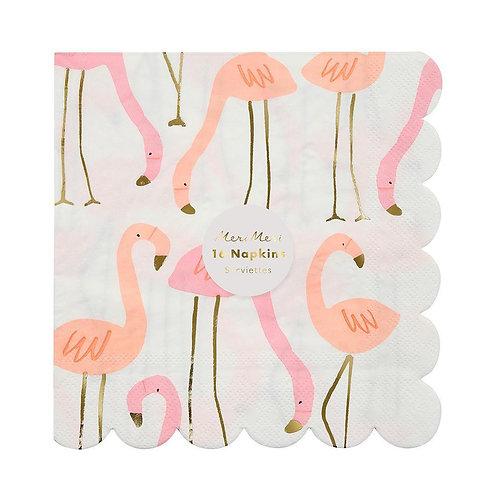 Servilletas de Flamingos Neon