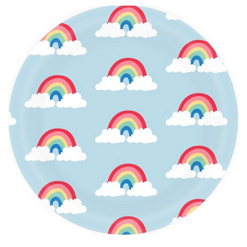 Platos de Mini Arcoíris