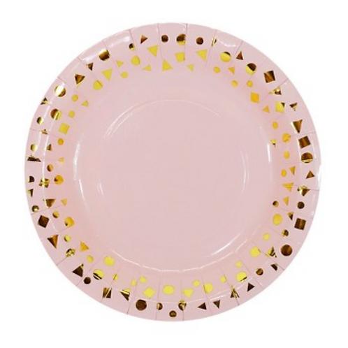 Platos Pink & Gold