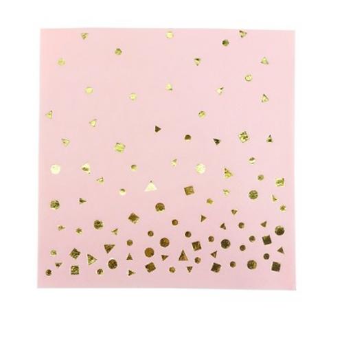 Servilletas Pink & Gold