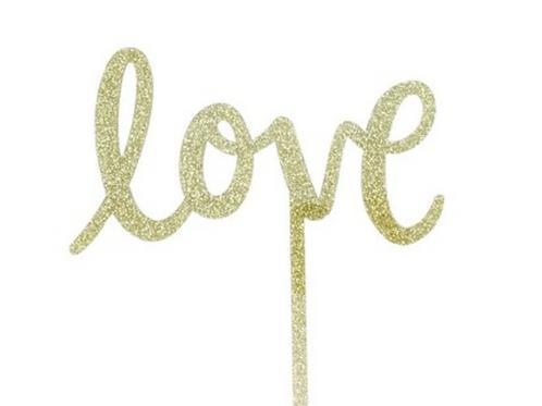Love Glitter Topper