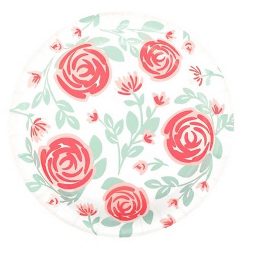 Platos Rosas Acuarela