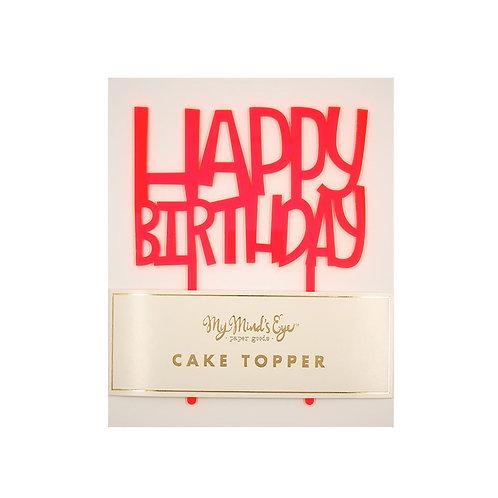 Happy Birthday Neon Topper