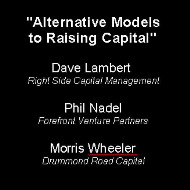 Alternative models to raising capital