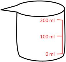 200 mlの計量カップ