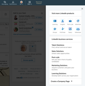 Set up a LinkedIn business page