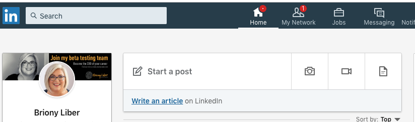 Write a combination of short form posts and long form articles on LinkedIn