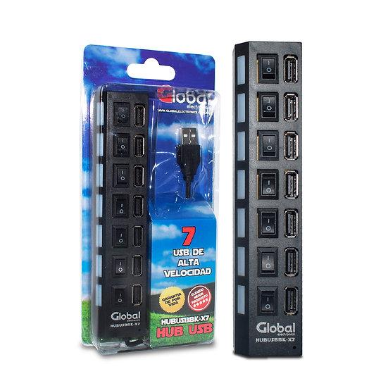 Hub USB de 7 puertos USB 2.0