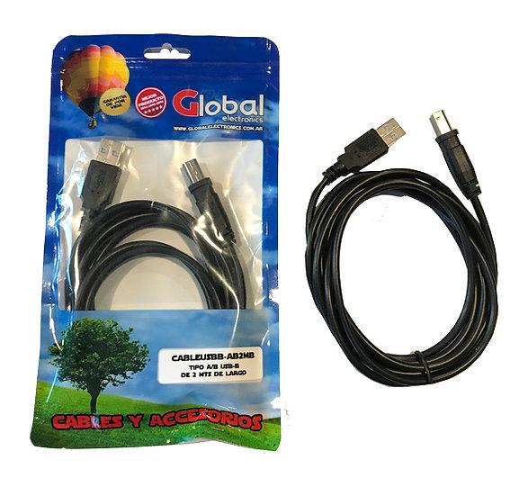 Cable USB para Impresoras - 2 mts