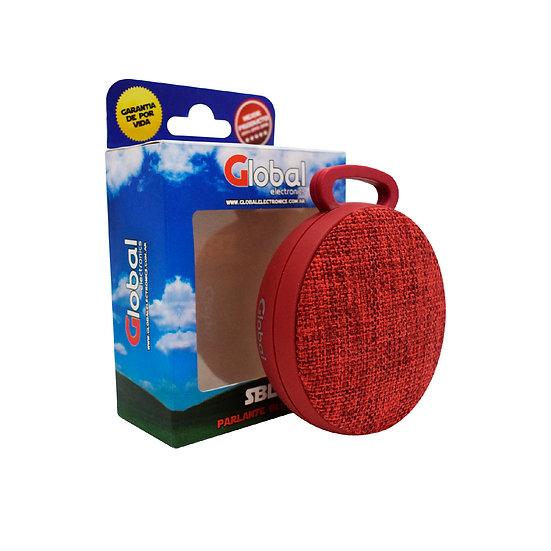 Parlante Bluetooth Premium Redondo - Rojo