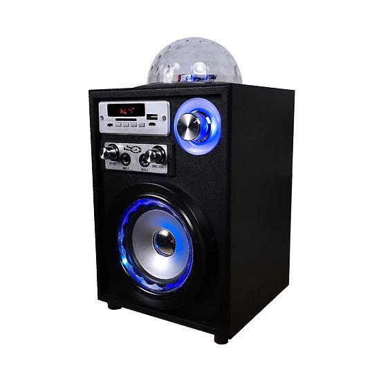 Parlante Inalámbrico Karaoke con esfera de luces LED y Micrófono