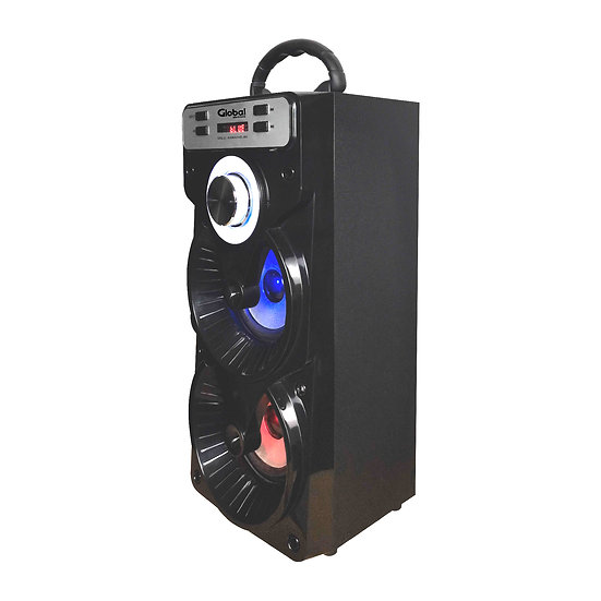 Parlante Inalámbrico Karaoke  Torre Doble con luces LED y Microfono