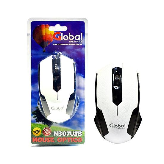Mouse Óptico USB - Blanco y Negro