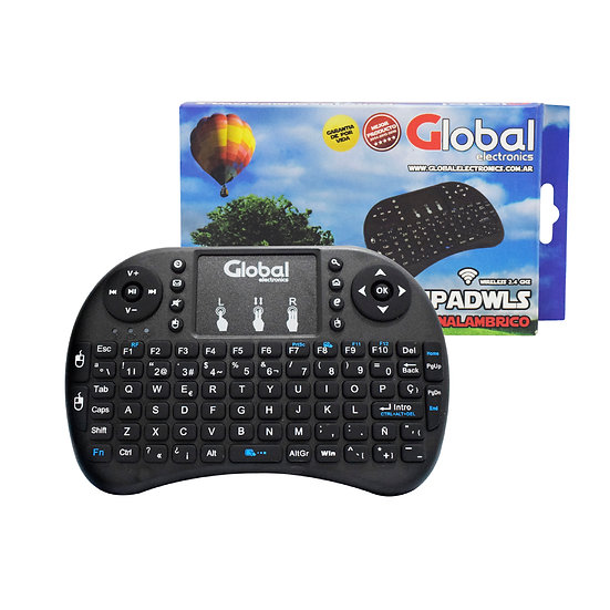 Teclado Mini con Pad Táctil Inalámbrico 2.4ghz - Smart TV
