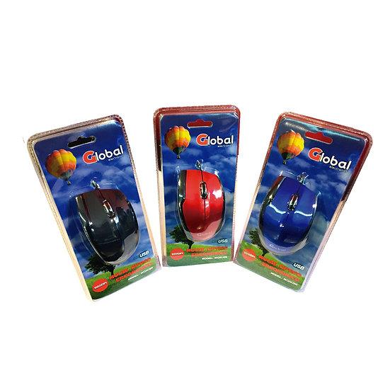 Mouse Optico USB - Azul y Negro