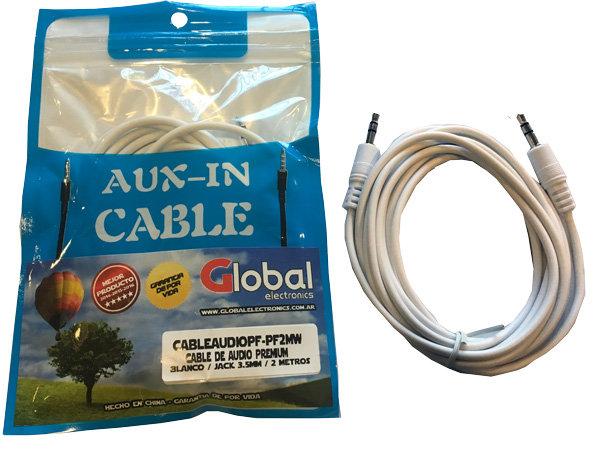 Cable de Audio Jack 3.5mm a Jack 3.5mm - 2 mts