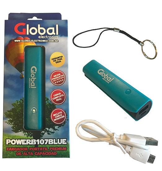 Cargador de Batería USB 2600 mAH - Azul