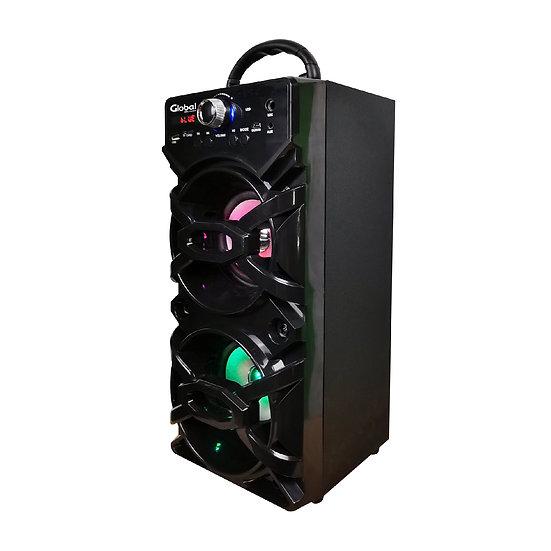 Parlante Inalámbrico Karaoke  Torre Doble con luces LED y Micrófono