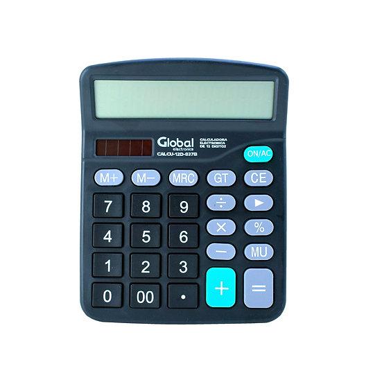 Calculadora de 12 Dígitos Plástica 837B Negra