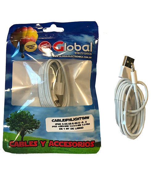 Cable USB IPhone Tipo 30 pines - 1 mt