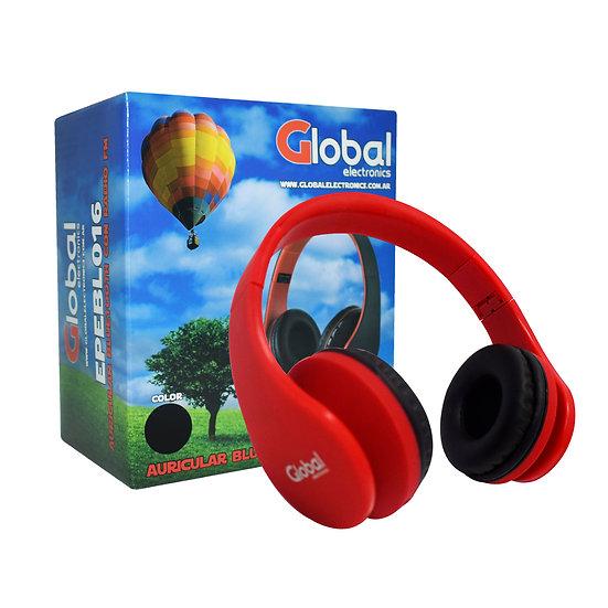 Auricular Inalambrico Plegable Rojo