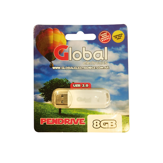 Pendrive USB 8 GB - Blanco con Capuchón