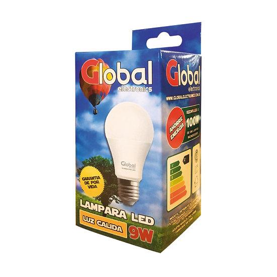 Lámpara Led Cálida de 9 Watts