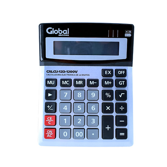 Calculadora de 12 Dígitos Metálica 1200V