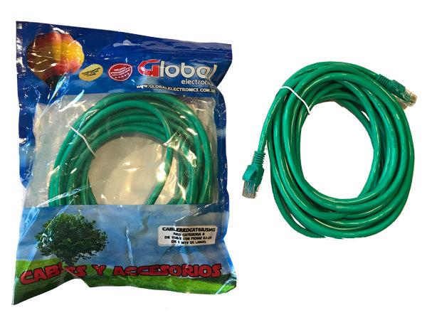 Cable de Red Verde Categoría 6 - 5 mts