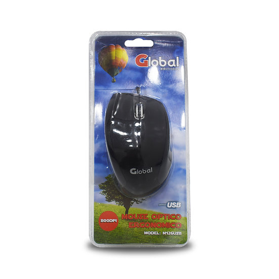 Mouse Optico USB -Negro