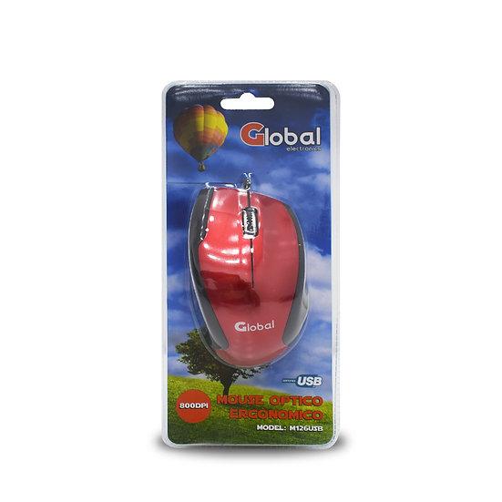 Mouse Optico USB rojo