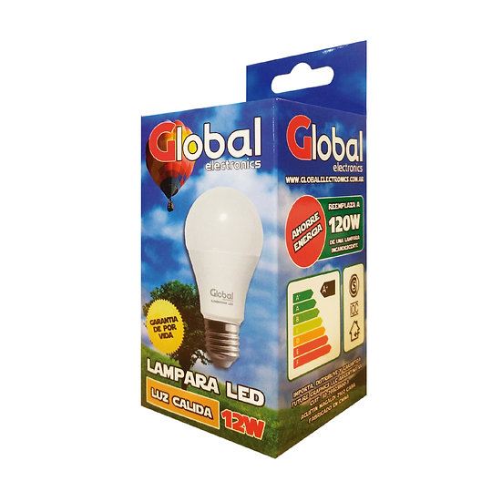 Lámpara Led Cálida de 12 Watts