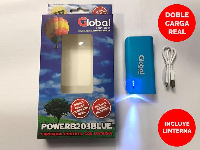 Cargador de Bateria Portátil USB 5200 mAH - Azul