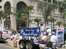 Chamber float in Opening of the Beaches Parade 2009