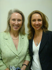 Lynn Thompson with Lorraine Haataia
